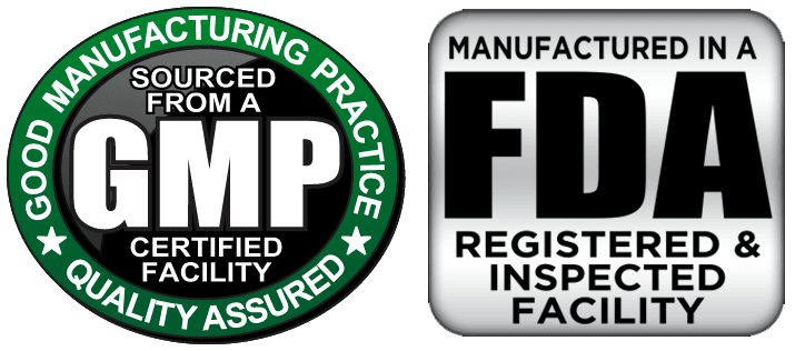 FDA CERTIFIED, GMP CERTIFIED